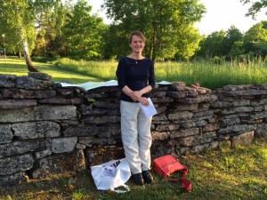 Eva Gustavsson, lektor på Göteborgs Universitet bjöd på intressant inblick i hur man studerar områdets utveckling över tid.